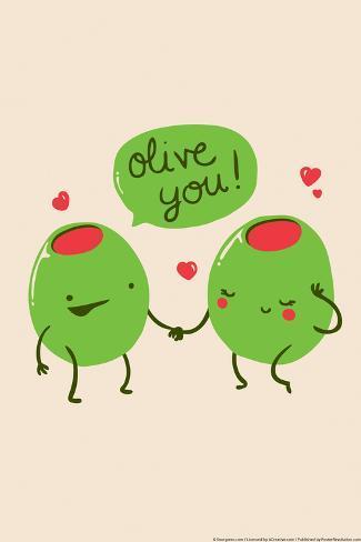 Olive You Juliste