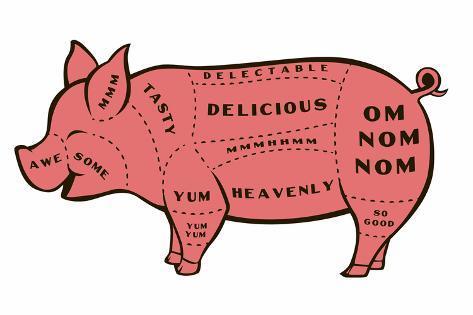 Tasty Pig Snorg Tees Plastic Sign Muovikyltit