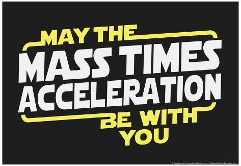 Mass Times Acceleration Poster