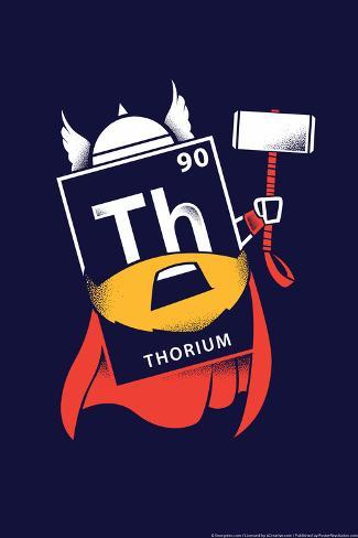 Thorium Element Snorg Tees Poster Poster