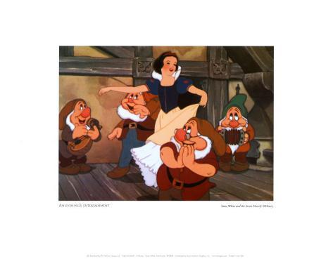 Snow White with Dwarfs Art Print