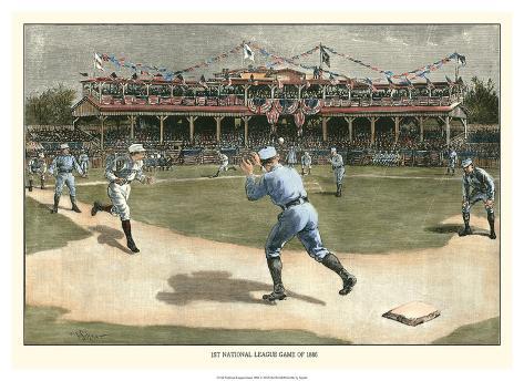 National League Game 1886 Giclee Print