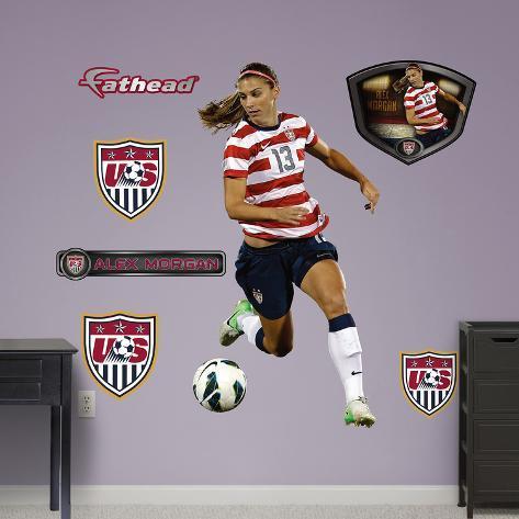 Soccer Alex Morgan - Ball Control Wall Decal Sticker Wall Decal