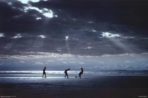 Soccer on the Beach Poster