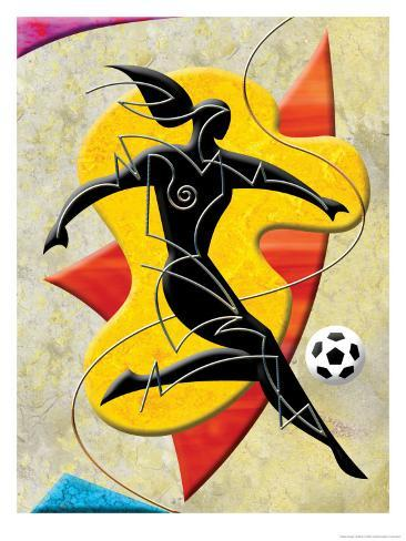 Soccer Player Kicking Ball Art Print