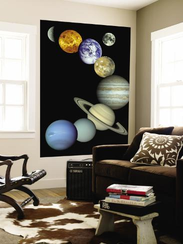 Solar System Montage Wall Mural