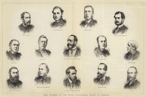 Some Members of the Royal Agricultural Society of England Giclee Print