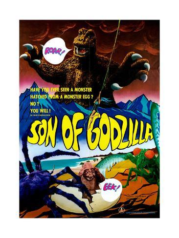 Son of Godzilla, (AKA Kaijuto No Kessen: Gojira No), 1967 Impressão giclée