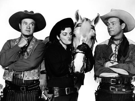 Son of Paleface, Bob Hope, Jane Russell, Trigger, Roy Rogers, 1952 Photo
