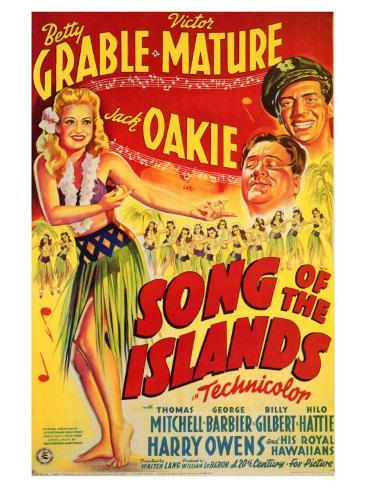 Song of the Islands, 1942 Art Print