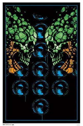Sonic Heads Fantasy Blacklight Poster Blacklight Poster