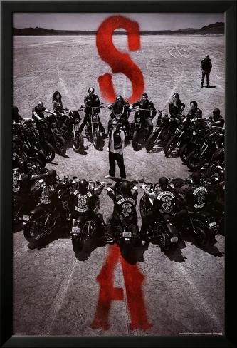 Sons of Anarchy - Bike Circle Lamina Framed Poster