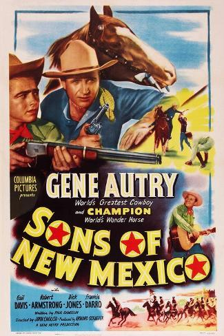 Sons of New Mexico, Top Center and Bottom Right: Gene Autry, 1949 Art Print