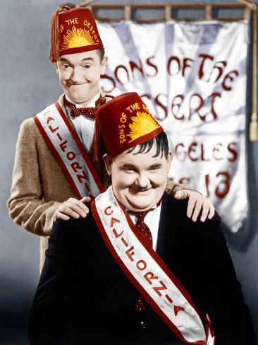 SONS OF THE DESERT, from left: Stan Laurel, Oliver Hardy, (aka Laurel & Hardy), 1933 Photo