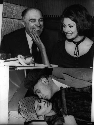 Sophia Loren and Carlo Ponti July 1962 Valokuvavedos