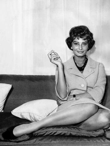 Sophia Loren at the Savoy Hotel London Photographic Print
