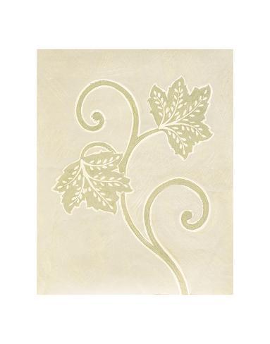 Vine Leaf Decoration Art Print