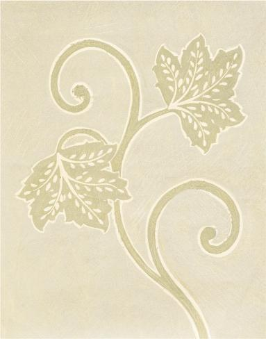 Vine Leaf Decoration Stretched Canvas Print
