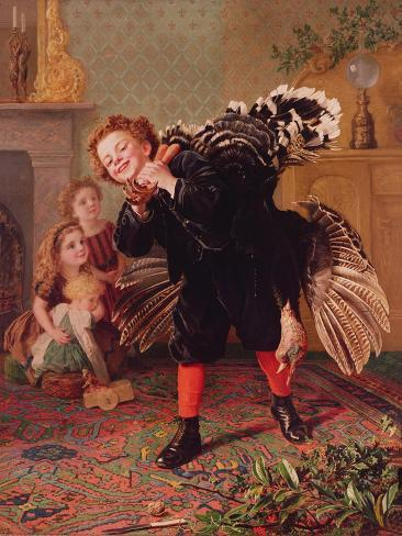 Here Comes the Gobbler..., C.1877 Giclee Print