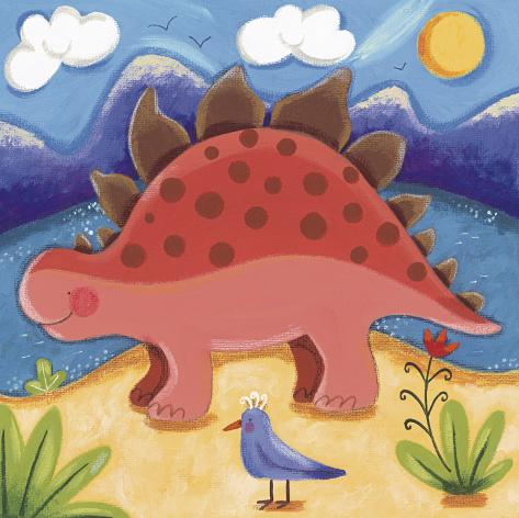 Baby Steggy The Stegosaurus Art Print