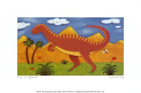 Izzy the Iguanodon Art Print