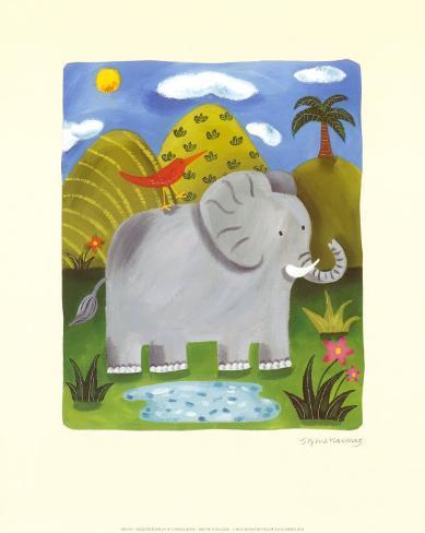 Nellie the Elephant Art Print