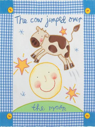 The Cow Jumped Over the Moon Premium Giclee Print
