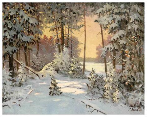 Winterwoods Framed Art Print
