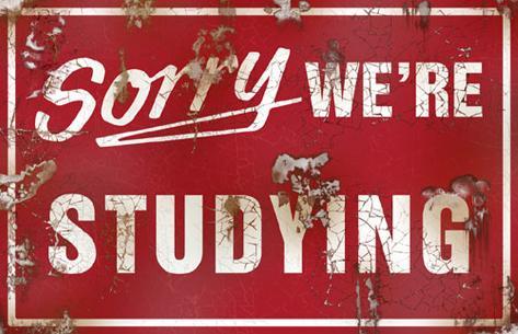 Sorry We're Studying Masterprint
