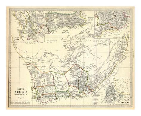 South Africa, c.1834 Art Print