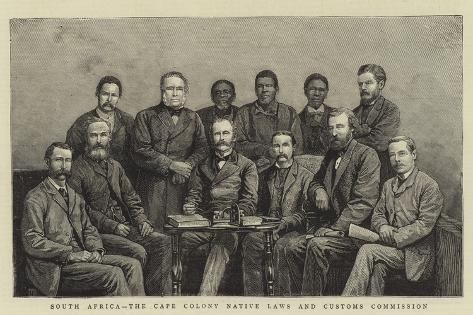South Africa, the Cape Colony Native Laws and Customs Commission Giclee Print
