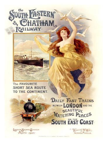 South Eastern and Chatham Railway Giclee Print