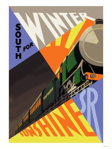 South for Winter Sunshine, Southern Railroad Art Print