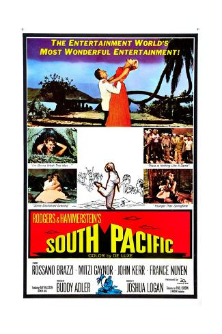 South Pacific, Rossano Brazzi, Mitzi Gaynor, 1958 Gicléetryck