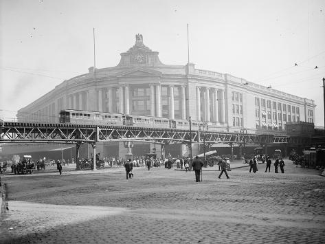 South Station, Boston, Massachusetts, C.1905 Photographic Print