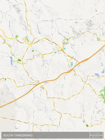 South Tangerang Indonesia Map Prints AllPosterscouk