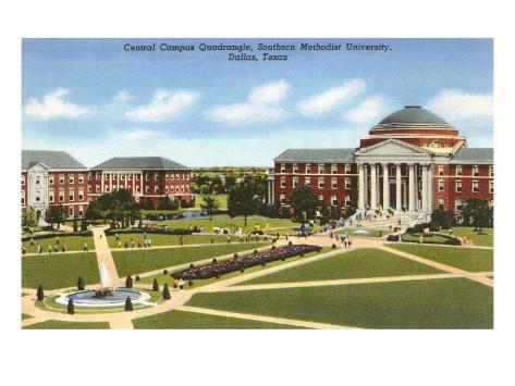 Southern Methodist University, Dallas, Texas Art Print