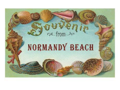Souvenir from Normandy Beach, New Jersey Stretched Canvas Print