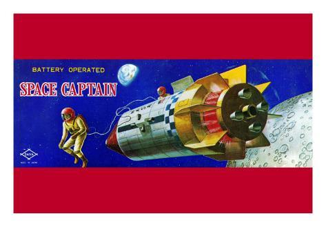 Space Captain Stretched Canvas Print