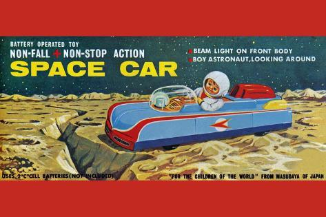 Space Car Wall Decal