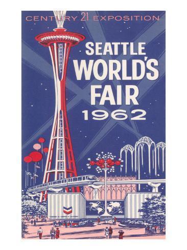 Space Needle, Seattle World's Fair Konstprint