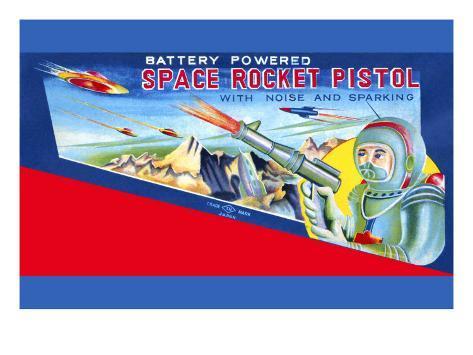 Space Rocket Pistol Art Print