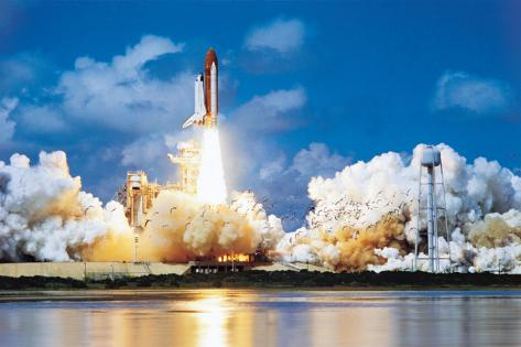 Space Shuttle Stretched Canvas Print