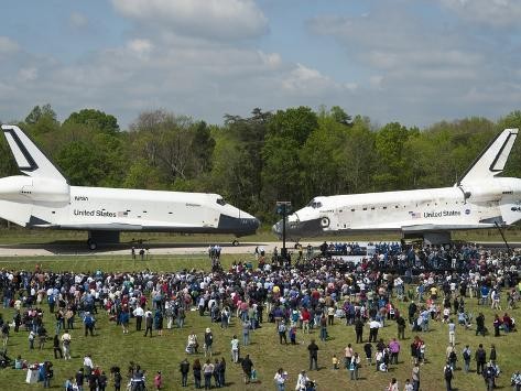 Space Shuttles Enterprise(Left) and Discovery Nose-To-Nose Photo