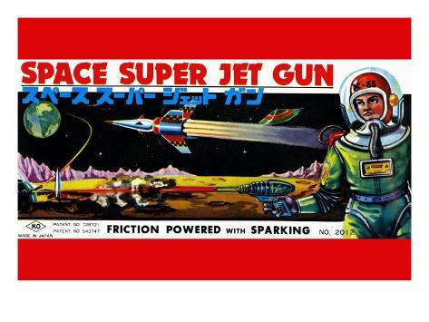 Space Super Jet Gun Art Print