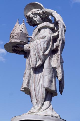 Spain, Castile and Leon, Astorga, Episcopal Palace, Statue of Angel Giclee Print