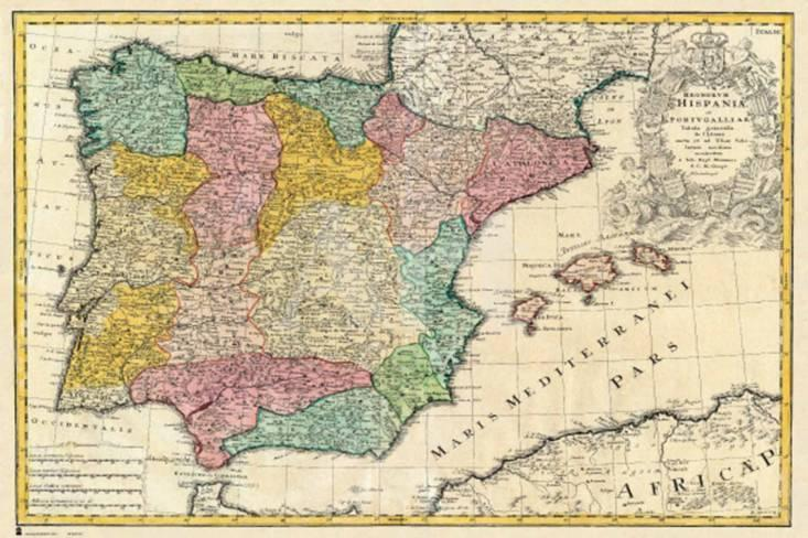 Spain Old Map Photo At Allposters Com