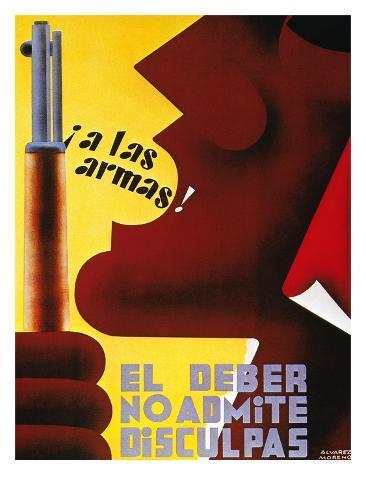 Spanish Civil War, 1937 Stretched Canvas Print