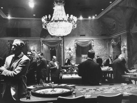 Sparse Crowd at a Casino at the Time of the Diplomatic Break with the Us Photographic Print