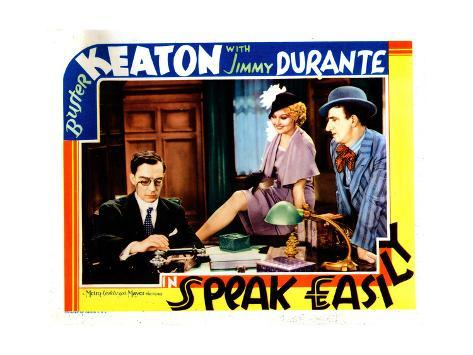 Speak Easily, from Left: Buster Keaton, Thelma Todd, Jimmy Durante, 1932 Lámina giclée